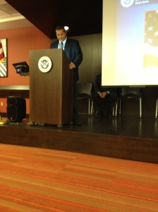 USCIS director leading the ceremony